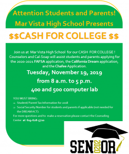 Cash for College event